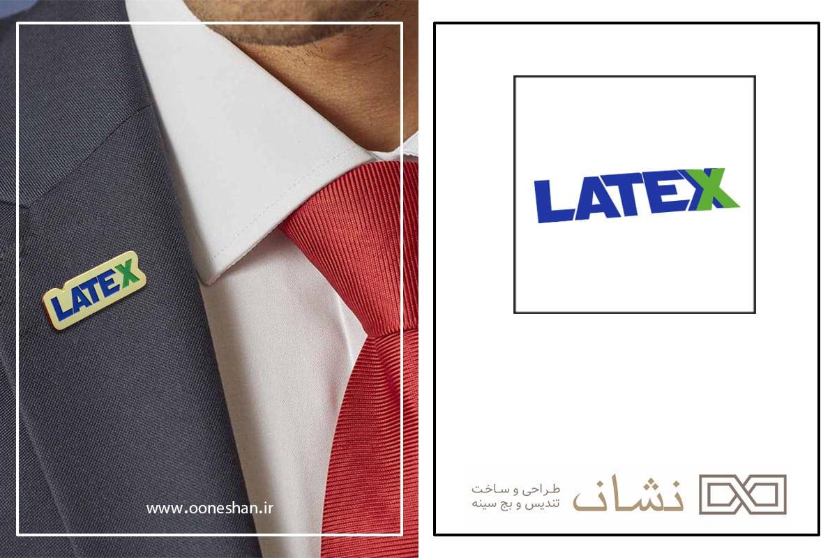 ساخت بج سینه LATEX